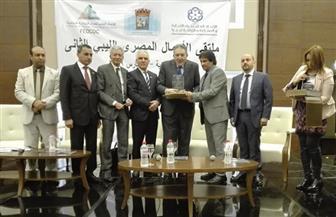 القنصل الليبي بالإسكندرية يكرم رئيسي اتحاد الغرف المصرية والليبية