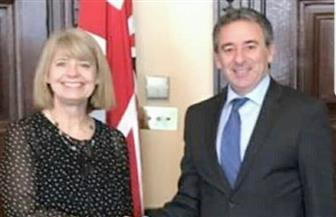 """سفير مصر في لندن يلتقي وزيرة الشئون الإفريقية البريطانية """"هارييت بالدوين"""""""