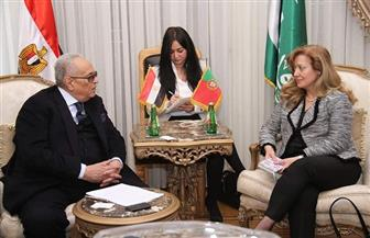 """رئيس الوفد يستقبل سفيرة البرتغال بـ""""بيت الأمة"""""""