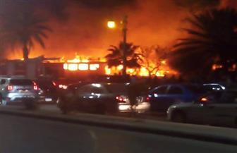 """مصدر أمني: السيطرة على حريق """"باخرة المعادي"""" بـ12 سيارة إطفاء"""