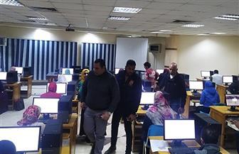 320 مرشحا لوظائف التدريس المؤقتة في كفرالشيخ يؤدون الاختبارات الإلكترونية | صور
