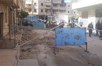 انهيار جزئي بعقار شرقي الإسكندرية.. دون إصابات |صور