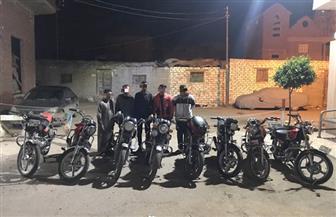 ضبط 5 أشخاص بتهمة سرقة الدراجات النارية بكفر الشيخ | صور