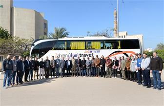 """انطلاق قافلة جامعة المنصورة المتكاملة """"جسور الخير 2"""" إلى طور سيناء ورأس سدر"""