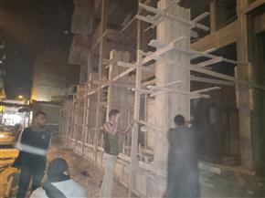 تنفيذ 3 قرارات إزالة أعمال بناء مخالف واستكمال أعمال رصف شوارع حي غرب أسيوط |صور