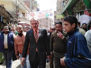 رئيس مدينة منيا القمح يشن حملة لإزالة الإشغالات |صور
