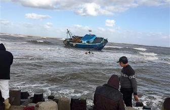 توقف حركة الصيد في ميناء المعدية وبوغاز رشيد بسبب الأمطار