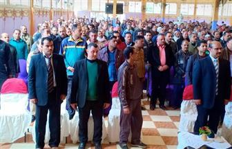 في مؤتمر جماهيري.. عمال الغزل والنسيج يؤيدون التعديلات الدستورية الجديدة | صور