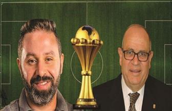 """كرم كردي وحازم إمام في ندوة """"كأس الأمم الإفريقية.. تشجيع بلا تعصب"""" بمكتبة الإسكندرية"""