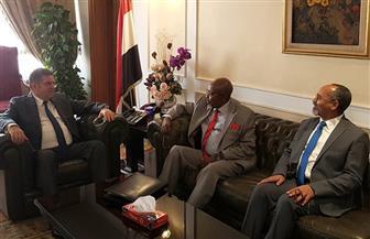 توفيق يبحث مع وزير الاقتصاد التشادي التعاون المشترك في مجال الأدوية والمقاولات