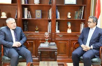 وزير الآثار يبحث مع سفير أرمينيا سبل التعاون وتبادل الخبرات بين البلدين | صور