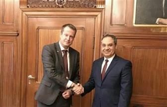 سفير مصر فى السويد يلتقي مع وزير الطاقة والتنمية الرقمية السويدى