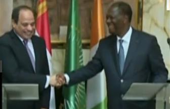 الرئيس السيسي: بحثت مع  الحسن واتارا سبل تعزيز التعاون بين البلدين