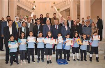 مدارس النيل تكرم الطلاب الفائزين فى مسابقة كانجارو العالمية للرياضيات| صور