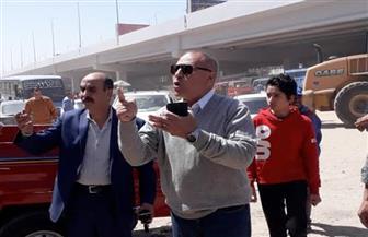نائب محافظ القاهرة يتابع رفع كفاءة أسفل كوبرى 4.5 |صور