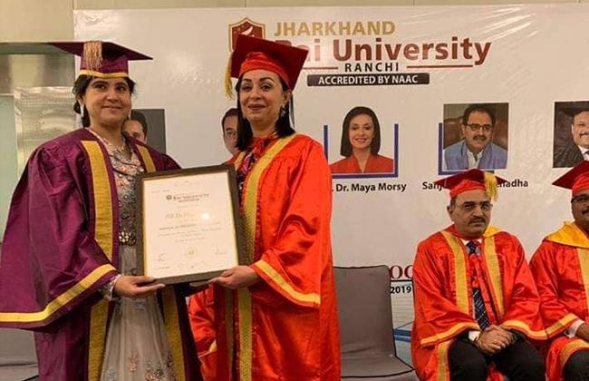 جامعة هندية تمنح رئيسة المجلس القومي للمرأة دكتوراه فخرية -
