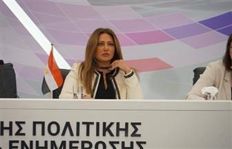 ليلى علوي تقترح إنشاء صندوق لدعم العمل الفني المشترك بين مصر واليونان وقبرص  صور