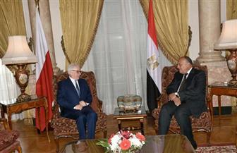 بدء المباحثات الثنائية بين وزيرى خارجية مصر وبولندا | صور