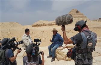 زاهي حواس يروج للسياحة المصرية عبر التليفزيون الإيطالي | صور