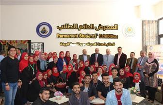 افتتاح المعرض الدائم للطلاب بجامعة المنصورة