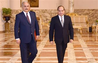 تفاصيل لقاء الرئيس السيسي مع المشير خليفة حفتر | صور