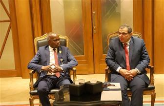"""خلال لقاء """"سعفان"""" بـ """"الأمين"""".. وزير العمل الليبي يؤكد: بلادي في أمس الحاجة للعمالة المصرية   صور"""