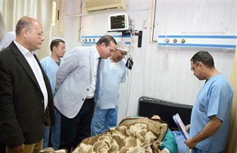 رئيس جامعة سوهاج يتفقد مرضى قوائم الانتظار بوحدة قسطرة القلب بالمستشفى الجامعي | صور
