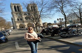 """جيهان جادو لـ""""بوابة الأهرام"""":حريق كاتدرائية """"نوتردام"""" انهيار تاريخي لفرنسا"""
