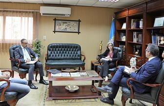 وزير الآثار يلتقي سفيرة بلجيكا | صور