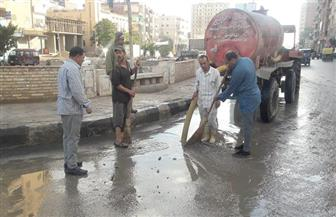 كفر الشيخ تواصل سحب مياه الأمطار من شوارع المدن والقرى وأفنية المدارس |صور