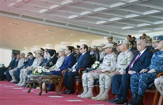 تفاصيل تفقد الرئيس السيسي لإجراءات الاصطفاف والتفتيش ورفع الكفاءة القتالية بقاعدة نجيب العسكرية| صور