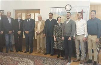 السفير المصري في وارسو يلتقى مع مفتي بولندا ورموز الجالية المصرية | صور