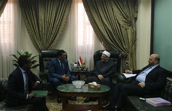 مفتي الجمهورية يستقبل السفير الإثيوبي لبحث أوجه تعزيز التعاون الديني بين الدار وإثيوبيا