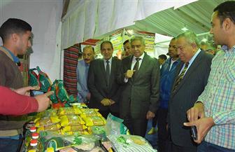 """محافظ المنيا يفتتح معرضين لـ """"أهلا رمضان"""" للسلع الغذائية"""