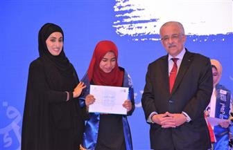 وزير التعليم يشهد الحفل الختامي لمسابقة تحدي القراءة العربي   صور