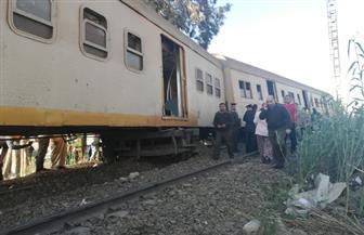 خروج عربتي قطار عن القضبان بكفر الشيخ.. وإصابة عدد من الركاب| صور