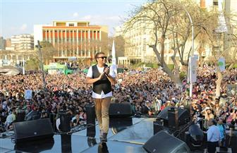رامي صبري يحيي حفلا جماهيريا داخل جامعة عين شمس  صور