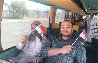 المصريون يتوافدون على سفارتي أبو ظبي ودبي للإدلاء بأصواتهم على التعديلات الدستورية| صور