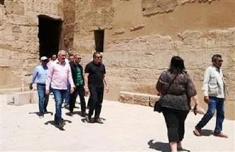 """وزير الآثار يصل معبد الكرنك لافتتاح """"معبد الإبت"""""""