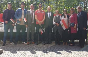السفارة المصرية في برلين والقنصليتان في هامبورج وفرانكفورت تستقبل الناخبين للتصويت في الاستفتاء | صور