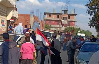 """""""مستقبل وطن"""" في مسيرة لدعم الاستفتاء على تعديل الدستور بالإسماعيلية  صور"""