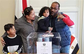 إقبال كبير من الجالية المصرية فى أوسلو على الاستفتاء | صور