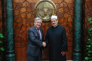 الأمين العام للأمم المتحدة يعلن تضامنه مع مسلمي العالم من مشيخة الأزهر.. نص البيان | صور