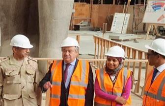 السكرتير العام للأمم المتحدة في زيارة للمتحف المصري الكبير   صور