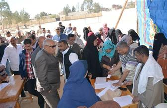 محافظ الوادي الجديد يتابع سير عملية الاستفتاء على تعديلات الدستور من الفرافرة