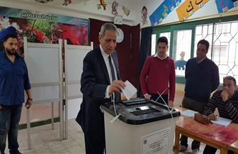وزير التربية والتعليم الأسبق يدلي بصوته في الاستفتاء على التعديلات الدستورية بالمنصورة