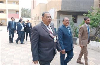 وفد من الهيئة الوطنية للانتخابات يتفقد لجان الاستفتاء بحدائق القبة | صور
