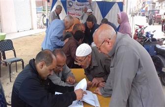 إقبال ملحوظ لكبار السن والسيدات على لجان التعديلات الدستورية بالغربية |صور