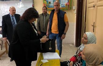وزيرة الثقافة تدلي بصوتها في الاستفتاء على التعديلات الدستورية
