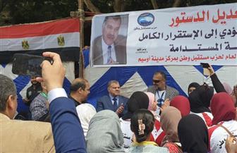 المئات من المواطنين يشاركون في الاستفتاء على التعديلات الدستورية بمنطقة الطالبية |صور